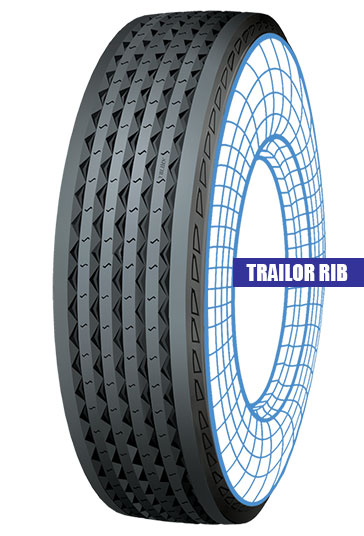 Tolins tread Trailor rib