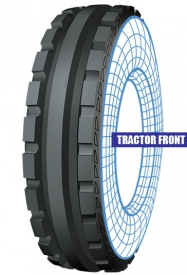 Tractor front tolins tread
