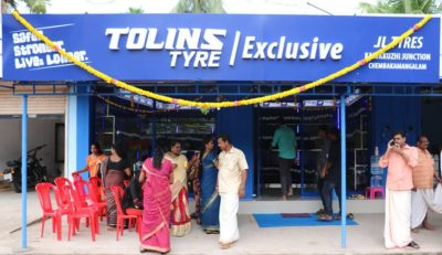 Tolins Tyres Exclusive Showroom opens at Chempakamangalam
