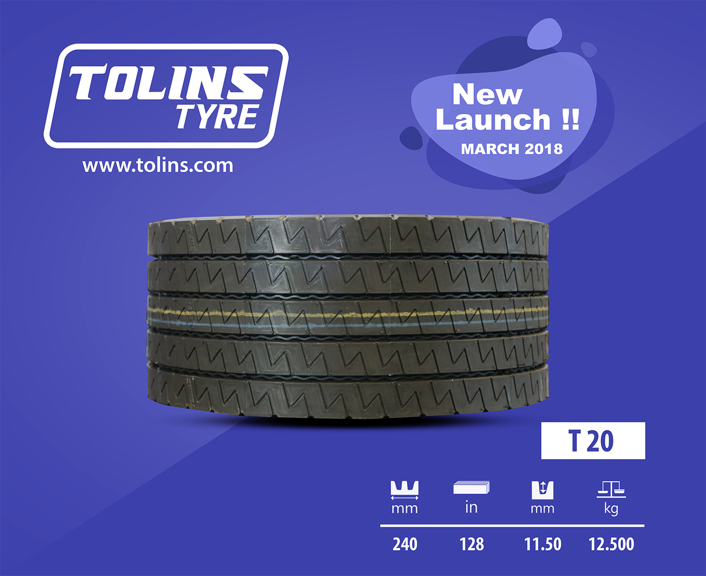 Latest Precured Tread Pattern T-20