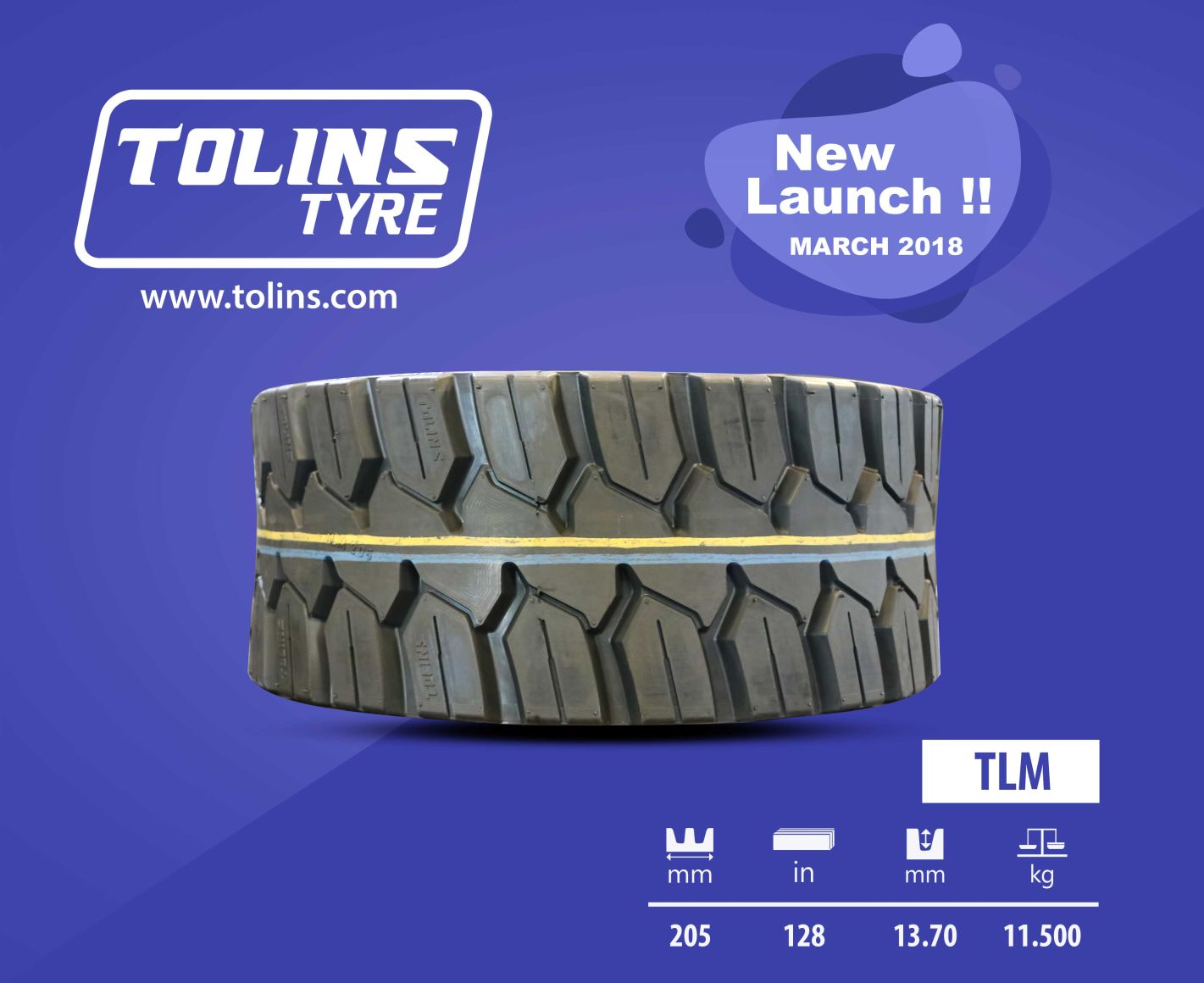 Newly Lauched Tolins TLM Precured Tread