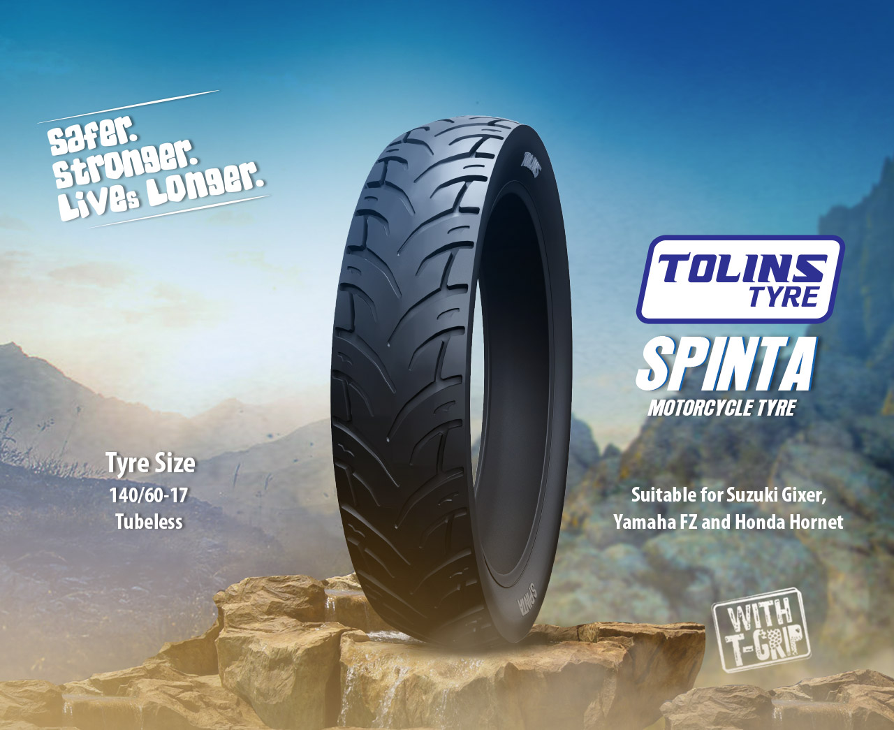 Tolins Spinta 140/60/17 Motorcycle Tyre