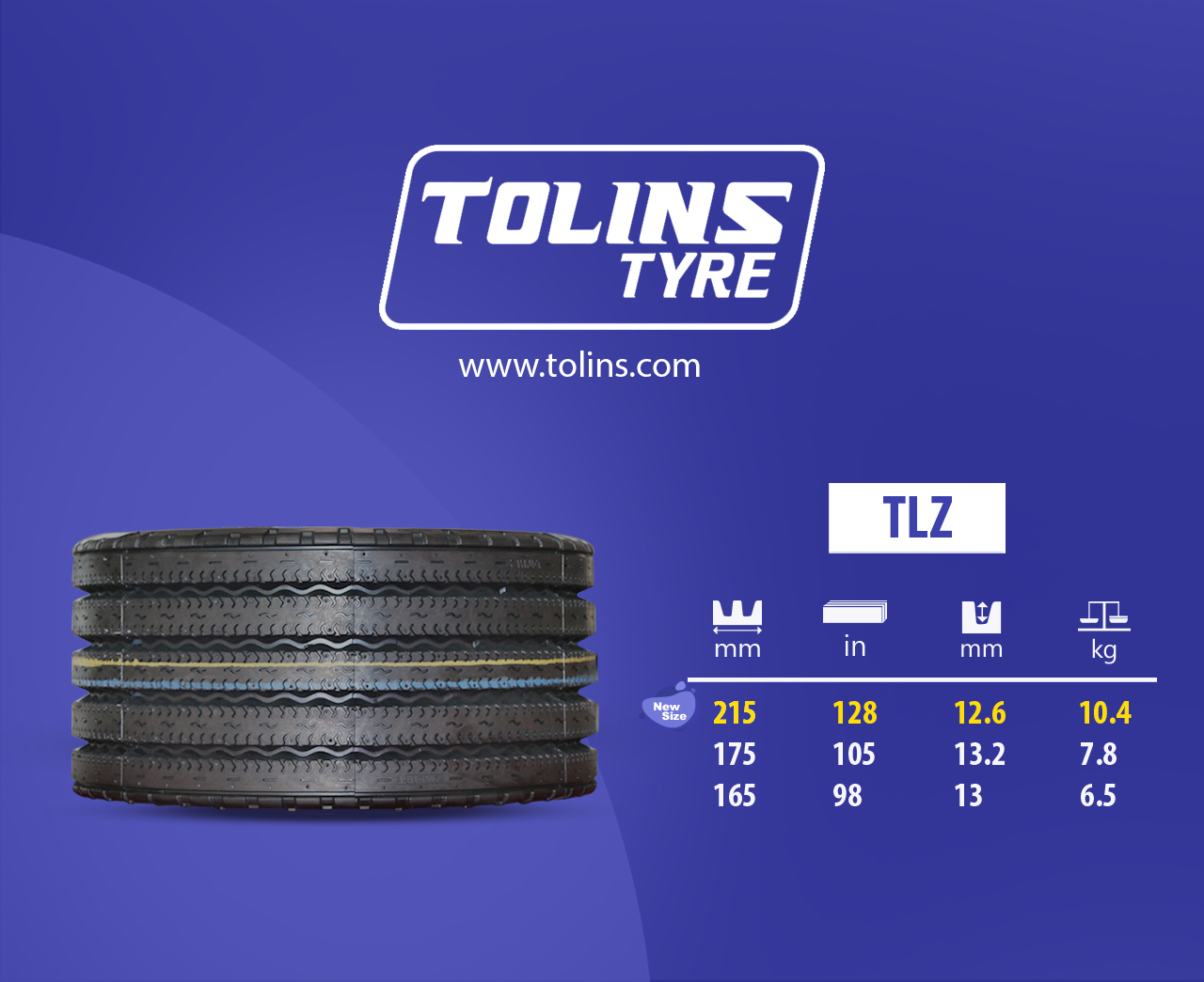 Tolins TLZ Durable Modern Tread Design