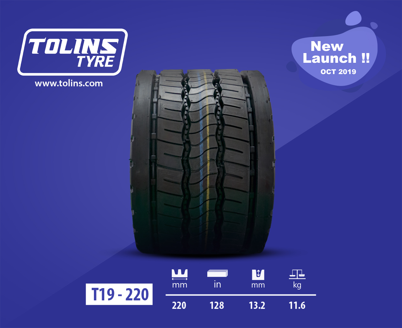 Tolins Precured Tread Rubber T19. Newly Launched!
