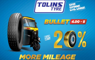 Tolins Bullet 4.00 - 8 Three Wheeler Tyre