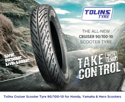 All-New Tolins Cruiser 90/100 - 10 Scooter Tyre